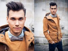 fashionablymen:  (via Pull  Bear Mustard Jacket, Vintage... #Men'sfashion #men'sstyle #style