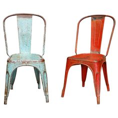 chairs...one in the kitchen, or a by the front door, or as a table with a stack of books...LOVE THESE.
