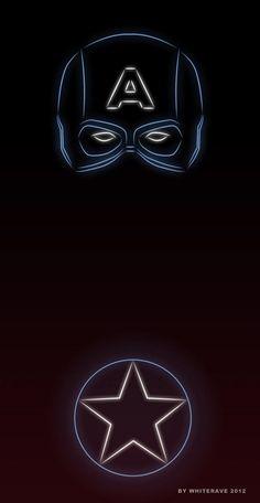 Illustrator Creates 'Neon Light' Superheroes - DesignTAXI.com