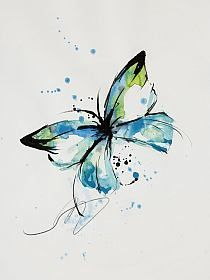 Butterfly Painting, Butterfly Watercolor, Butterfly Art, Watercolor Animals, Watercolor And Ink, Watercolour Painting, Painting & Drawing, Butterflies, Tableau Design