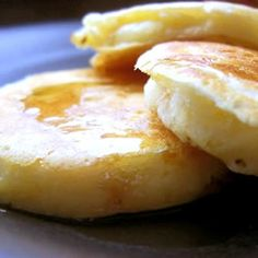 Old-Fashioned Pancakes.  This is my go-to recipe.  I will never buy boxed mix again, as this is so easy!
