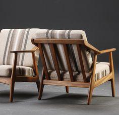 H. Brockmann-Petersen; Teak Easy Chairs, c1960.
