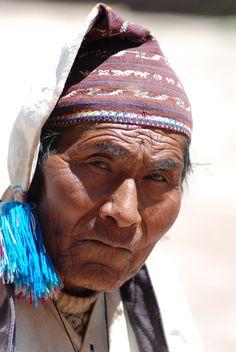 Taquile Island elder, Lake Titicaca, Peru