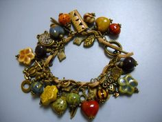 Antique Brass Bohemian Steampunk and Porcelain by Beads4You2008,