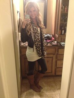I can't bring myself to wear brown boots with black pants. One day. Super cute outfit!