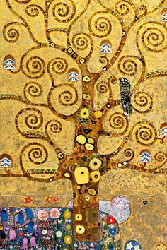 Gustav Klimt: Tree of Life, Art Nouveau, Vienna, 1905 #Klimt