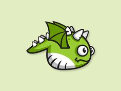 Cute Green Dragon Game Character Sprite Sheet on Behance