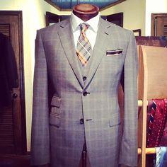 Custom  Nicholas Joseph 3pc grey check suit.  I Nicholas Joseph Custom Tailors l www.customsuitsyo... l Chicago, IL l USA