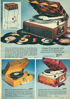 Groovy vintage record players!
