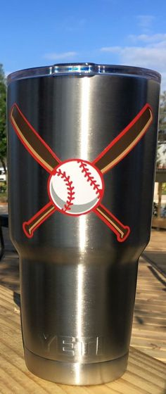 Baseball LOVE Personalized Yeti Tumbler With Monogram Initials By - Custom vinyl baseball decals