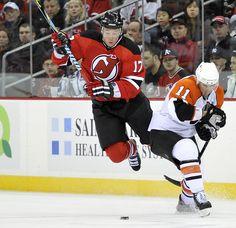 NJ Devils Ilya Kovalchuk flies.....Beer, pizza and playoff hockey.....sweeeet!!!
