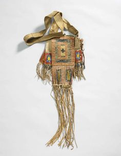 Bag. Assiniboine or Sioux, 1885. No additional identifying information.
