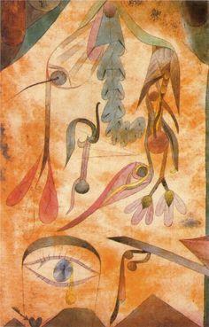 Klee fleur affligee, 1917. Kandinsky, Klimt, Matisse, Rembrandt, Cavalier Bleu, Antoine Bourdelle, Chaim Soutine, Paul Klee Art, Crackle Painting