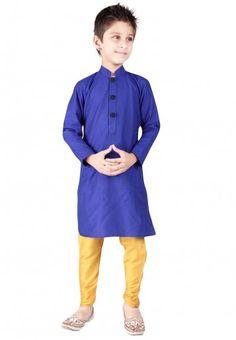 KAY Blue Kurta Sets - Buy KAY Boys Kurta Pyjamas Online | JabongWorld.com