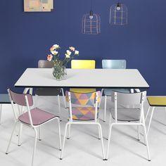 Table formica rouge pieds eiffel chaises formica vintage for Cuisine formica neuve