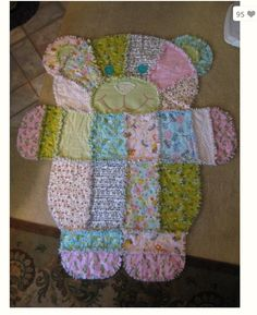 Teddy bear rag quilt