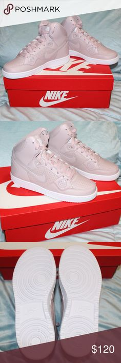 "NEW Nike Son of Force Mid Rose Sneakers 6.5 Listed is a pair of new in the box Nike Women's Son of Force Mid High Top Sneakers in the color ""Rose Particle"" These Sneakers are size 6.5. These particular sneakers are very rare and the color is very trendy atm. I have other sizes of this particular sneaker listed in my closet as well!   Blush Mauve Nike Shoes Sneakers"