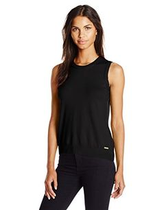 Calvin Klein Womens Shell Black M -- For more information, visit image link.