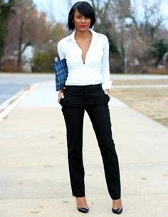 Cute Outfit of the Day: Ashleigh Nicole's Classic Look : Lucky Magazine