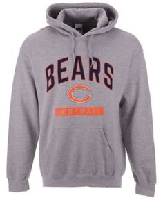 bfff27753 Authentic Nfl Apparel Men s Chicago Bears Gym Class Hoodie - Gray M Gym  Classes