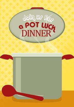Free Printable Pot Luck Dinner Invitation
