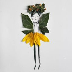 Download and print these dolls and then use wild things found in nature to decorate your very own garden sprites!