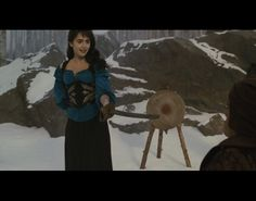 Lily Collins as Snow White in Mirror Mirror - Forest Costume