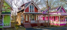 The Gingerbread Houses of Oak Bluffs, Massachusetts are not to be missed.