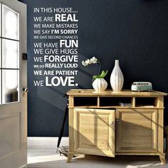 In This House Vinyl Wall Sticker - $17
