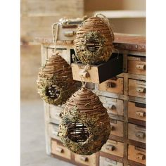 CAN THIS BE USED ON A CHRISTMAS TREE IN SOME CAPACITY?  Small Hanging Birdhouse | Rustic Wedding | Afloral.com