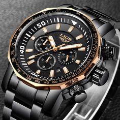 6003371c128 Relogio masculino 2018 New LIGE Marca de Moda Mens Relógios de Negócios de  Aço Completo Relógio de Quartzo Dos Homens Do Esporte Militar Relógio À Prova  D  ...