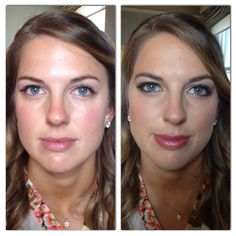 Before and after of bride, Mary