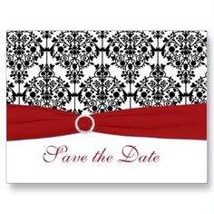 I think I have found a theme. Classic black, white and red save the date.