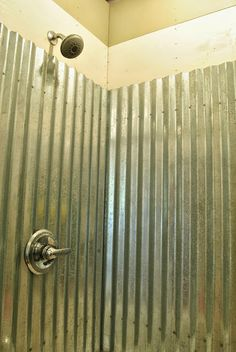 Cottage Dreamers: Galvanized corrugated metal shower surround Q & A