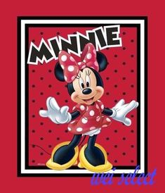 3920a9d3f7e5 Disney Minnie Mouse cotton fabric - Loves to Shop Quilt Top Panel   SpringsCreative Mouse Pictures