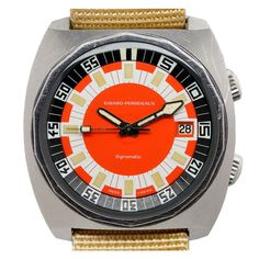 GIRARD-PERREGAUX Stainless Steel Automatic Diver's Wristwatch circa 1960s
