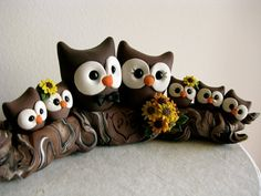 Owl love on a branch custom wedding cake topper by theaircastle, $270.00