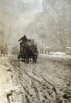 Alfred Stieglitz. Winter on Fifth Avenue. 1892.