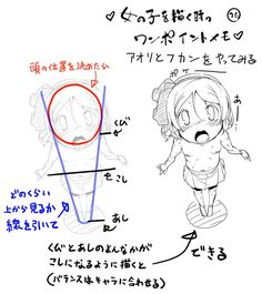 Body type loli from head perspective Body Reference, Anatomy Reference, Drawing Reference, Design Reference, Body Drawing, Drawing Base, Manga Drawing, Drawing Lessons, Drawing Tips