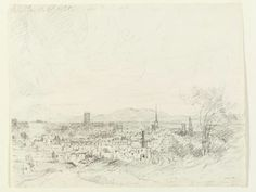 A view of Worcester from the north, John Constable, 1835