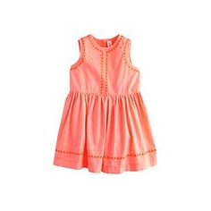 Baby dress in embroidered triangles