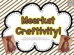 FREE!  Meerkat craftivity!  A Kindergarten Smorgasboard of Meerkats!