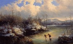 Winter Skating Scene, William Charles Anthony Frerichs, Gift of the Cape Fear Corporation