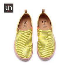 Spain original design, unique painted shoe style Breathable and soft insole, safe and smell free High elastic and soft EVA sole Super lightweight Leather and microfiber meterial, soft and comfortable Women's shoes Black N Yellow, Leather, Shoes, Collection, Women, Style, Swag, Zapatos, Shoes Outlet