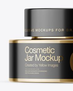 50ml Metallic Cosmetic Jar Mockup