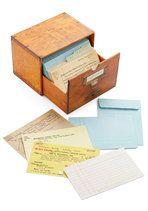 So cute! I love the library! | Long Overdue Notecard Set | $19.99 | ModCloth.com