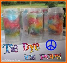 How to Make Tie Dye Ice Pops Could also put in clear party cups and eat with a spoon.
