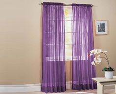 Lavender Transparent Curtains