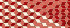 Dwell Patterns- diamond tiles - Heath Ceramics imagine that all in white Tile Patterns, Print Patterns, Heath Ceramics Tile, Coral Art, Bathroom Floor Tiles, Handmade Tiles, Mid Century Modern Design, Pattern Blocks, Restaurant Design