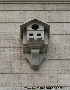 Bird House Feeder, Insect Hotel, Decorative Bird Houses, Dope Art, Bird Cage, Ottoman, Woodworking, Birds, Architecture